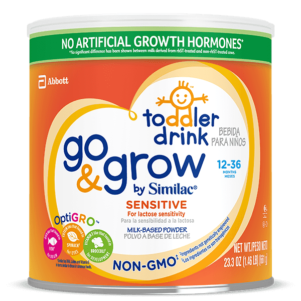 Go & Grow by Similac Sensitive Non-GMO Toddler Drink 1.5 lb