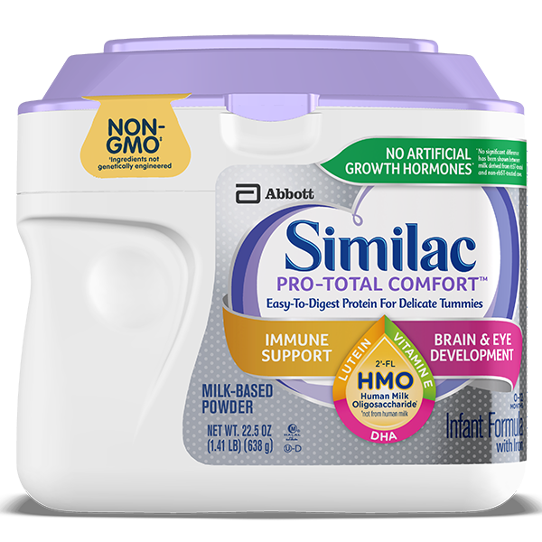similac pro total comfort partially hydrolyzed baby formula