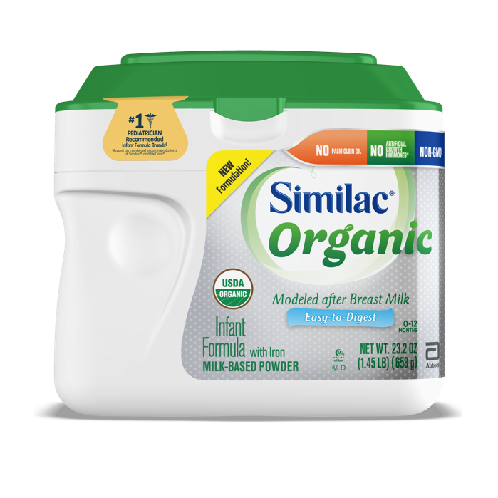 Similac Certified USDA Organic Standard formula product for infants