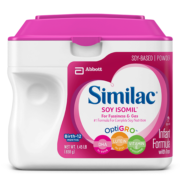 Similac Soy Isomil formula product for infants