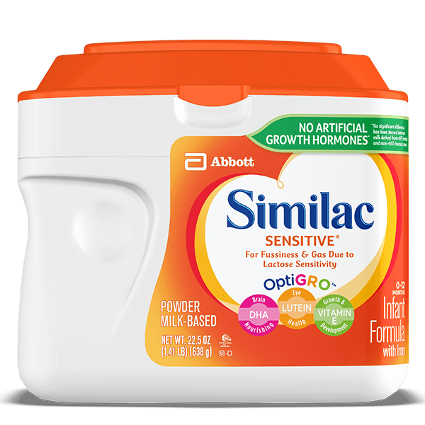 Similac Sensitive stage 1 formula for lactose sensitive infants