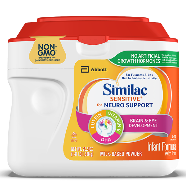 Similac Sensitive stage 1 NON-GMO formula for lactose sensitive infants