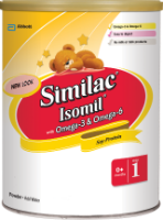 Similac<sup>®</sup> Isomil<sup>®</sup> with Omega-3 & Omega-6