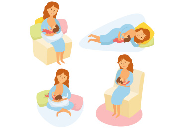 370x271 comfortable breastfeeding positions 2