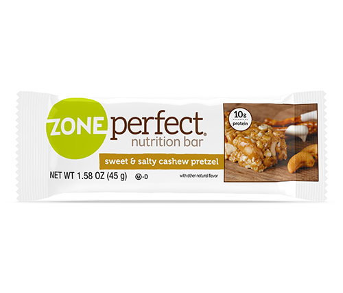 ZonePerfect sweet & salty cashew pretzel