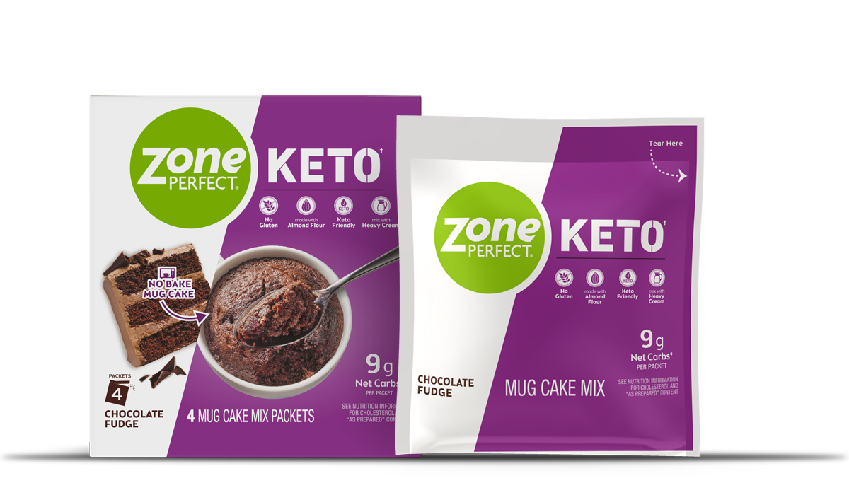 ZonePerfect zesty lemon Keto Mug Cake Mix
