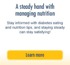 Una mano firme en el control de la nutrición: mantenerse informado sobre los consejos de alimentación y nutrición para la diabetes, y mantenerse estable puede ser muy satisfactorio